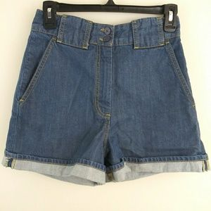 French Connection high waisted denim shorts